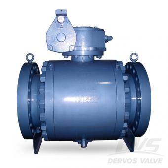 Trunnion Type Ball Valve Flanged Gearbox