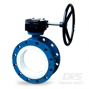 Cast Iron Concentric Butterfly Valve PTFE Lined