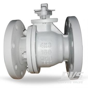 2 Piece Floating Ball Valve WCB 150LB 4Inch Reduced Bore