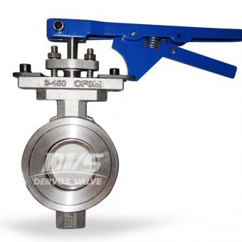 150LB high performance double offset butterfly valve WAFER