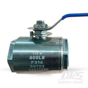 Stainless Steel 2 Pieces Type Ball Valve 1-1/2 Inch 800LB