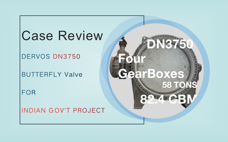 Case Review: DERVOS DN3750 BUTTERFLY VALVE FOR INDIAN GOVERNMENT PROJECT